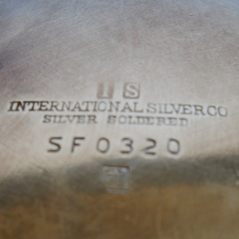 International Silver Co. vintage silver soldered ashtray with matchbook holder SF0320. Circa 1958. Great condition. Estate sale find.