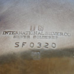 '.Int'l Silver Co. Ashtray SF032.'