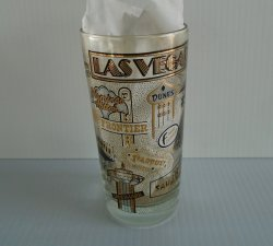 Vintage Las Vegas Glass, Aladdin Landmark Showboat pre 1988