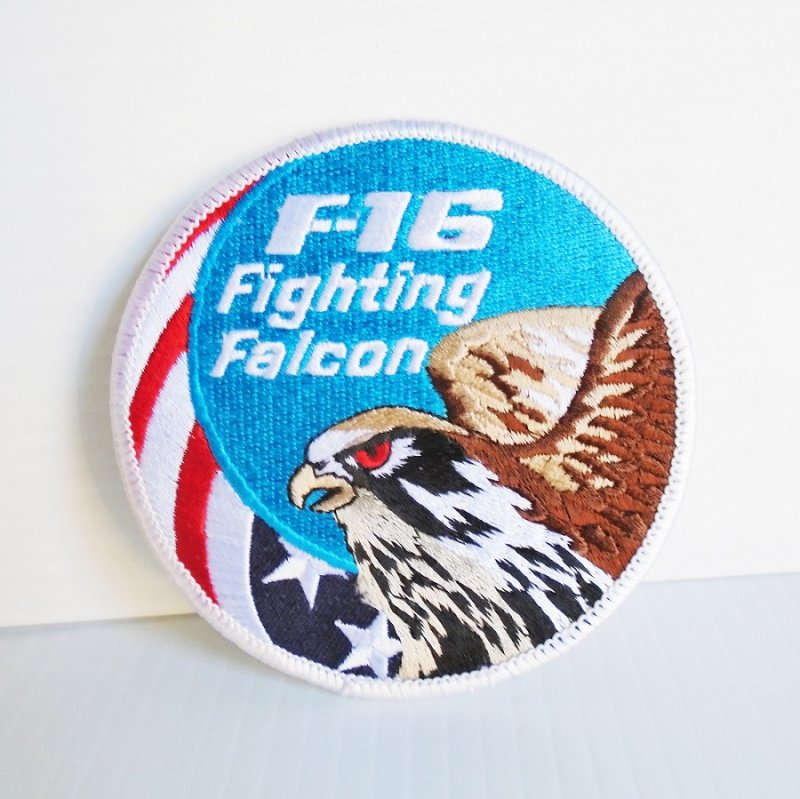 F-16 Fighting Falcon Patch, 3.75 inches round. Never used. Estate purchase