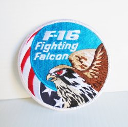 F-16 Fighting Falcon Patch, 3.75 inch, Unused