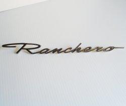 Vintage Ford Ranchero Car Vehicle Nameplate Emblem, 12.5 inch