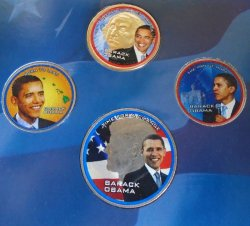 '.Obama 4 coin Presidential set.'
