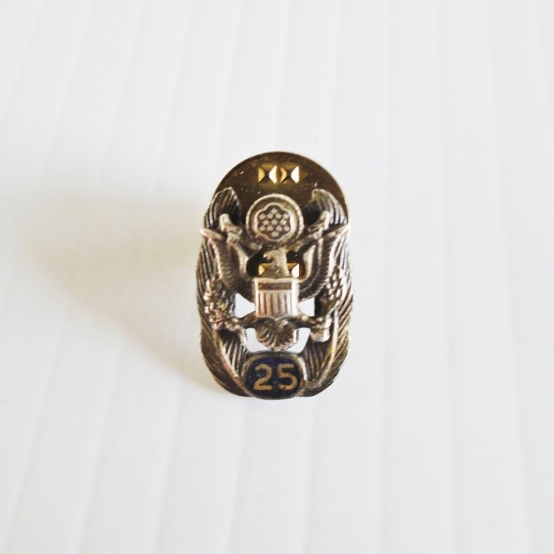 U.S. Army 25 year Civil Service award lapel pin or tie tack.