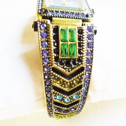 '.Heidi Daus Art Deco Watch.'