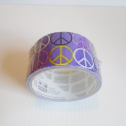 Peace Sign Purple Duct Tape, 3M Scotch Brand, Peace Out