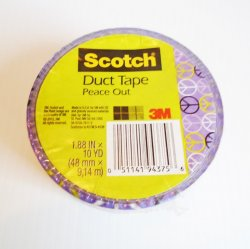 '.Peace Sign duct tape.'