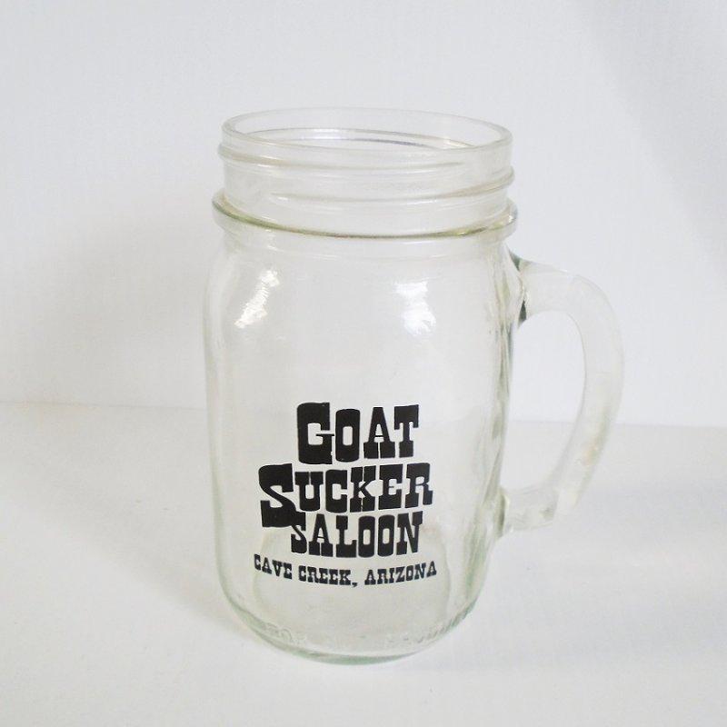 Goat Sucker Saloon, Cave Creek Arizona, Mason jar beer mug.