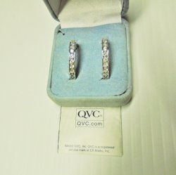 '.QVC Diamonique 925 Earrings.'
