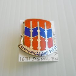 '.16th Army Signal Batt DUI pin.'