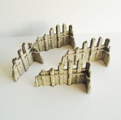 Heroscape Ruins Terrain, 3 large, 1 small