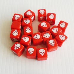 Heroscape Red Attack Die Dice, 19 pcs