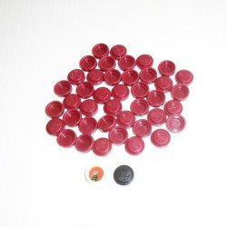 Heroscape Wound Markers, 43 pcs with 1 black and 1 white