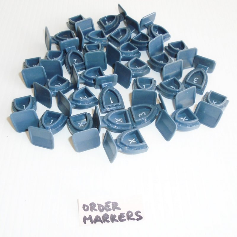 Heroscape Rise of the Valkyrie. Order Markers, qty of 30 pcs. Hasbro 2004