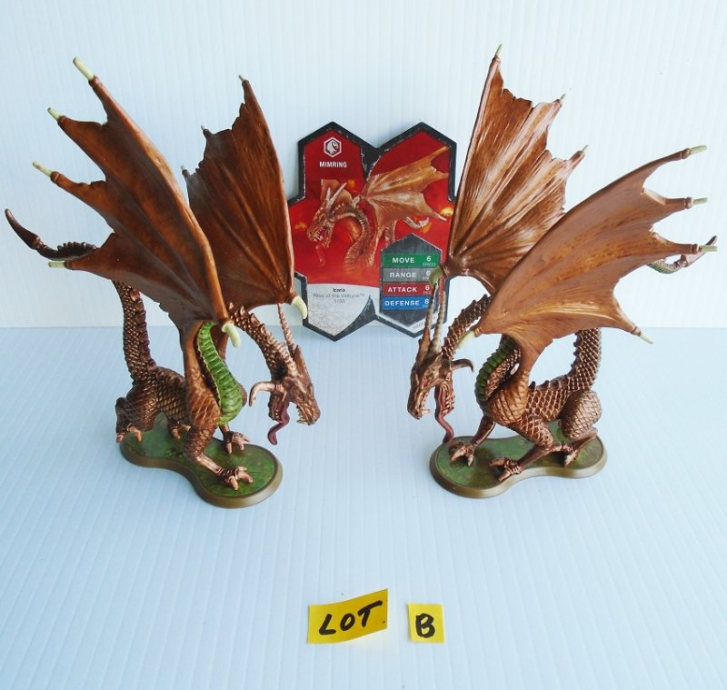 Heroscape Mimring dragon fighter figurines. Qty of 2. Hasbro 2004