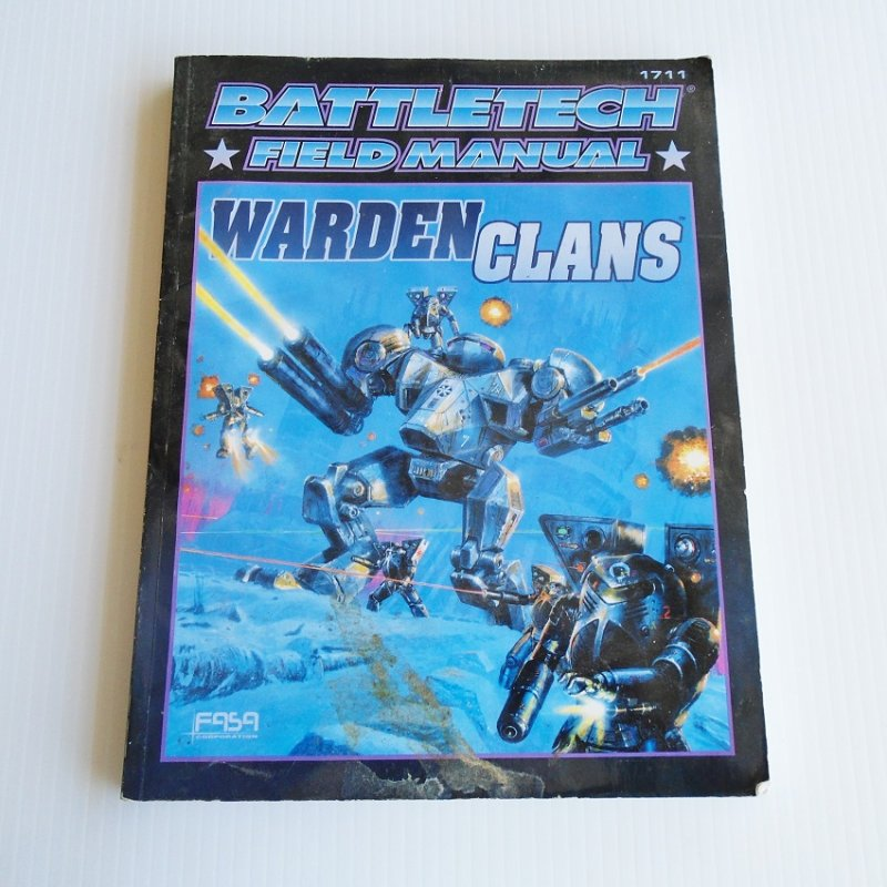 Battletech Warden Clans Field Manual. Covers Cloud Cobra, Coyote, Diamond Shark, Ghost Bear, Goliath Scorpion, Snow Raven, Steel Viper