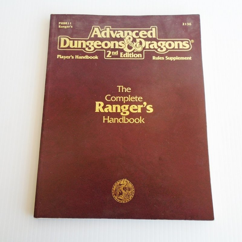 Dungeons & Dragons Ranger's Handbook/Rule Supplement Book. Book reveals secrets of the Ranger class. Paperback, 8.25 by 10.75 inches with 127 pages.