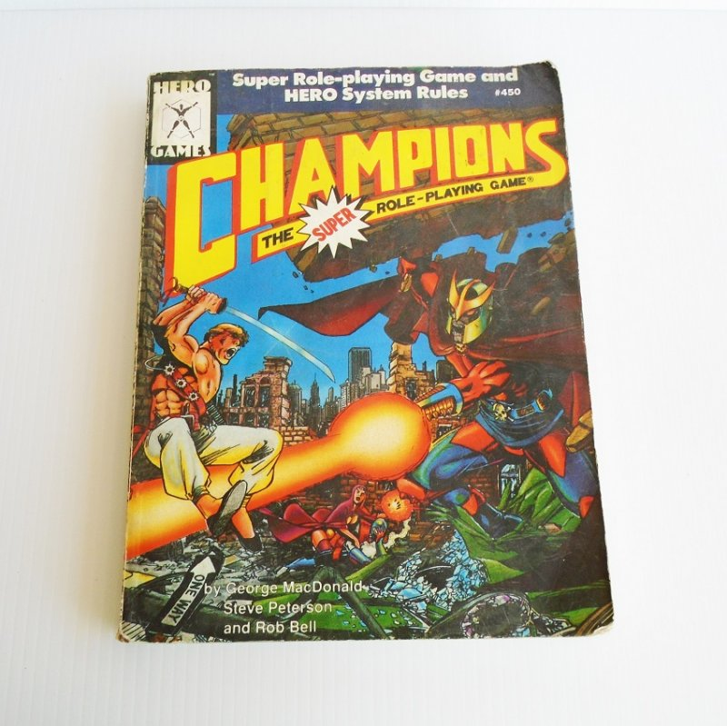 Champions Super Role Playing Game rule book 450. All previous Champions books combined to one. Cleaner better integrated more streamlined than before