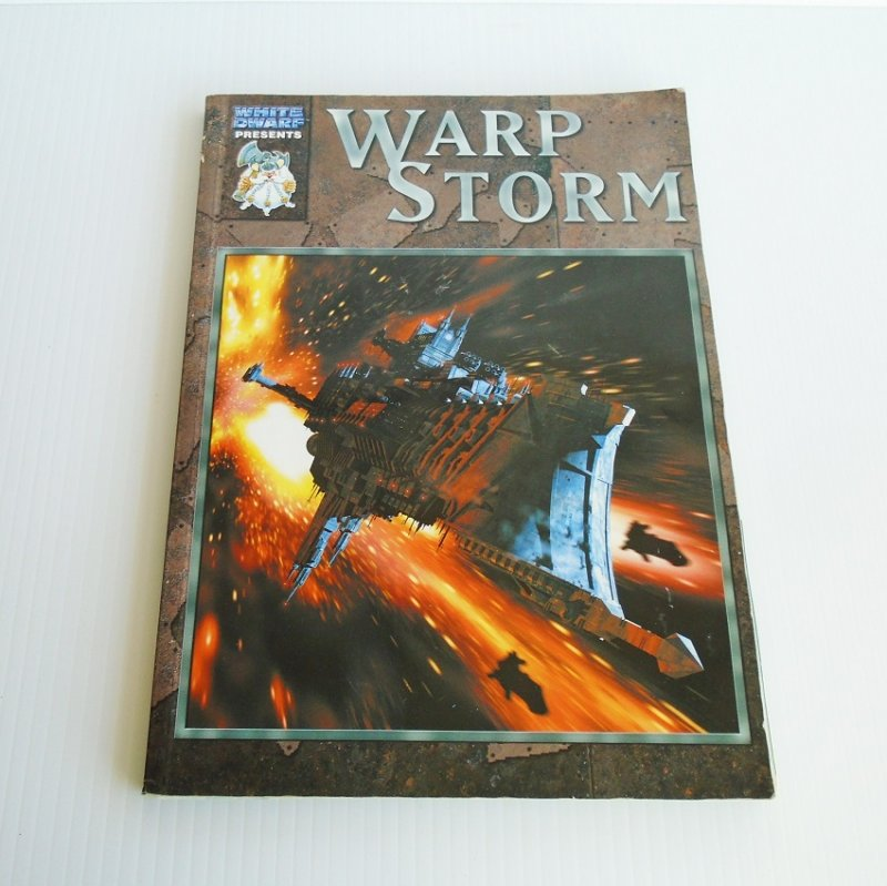 Warhammer 40k Battlefleet Gothic Warp Storm rules, scenarios, reports, and stat sheets book. Pre-owned