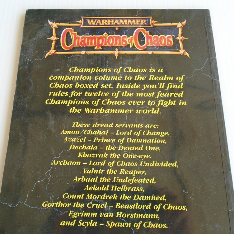 Rules for 12 of the most feared Champions of Chaos ever to fight in the Warhammer world.