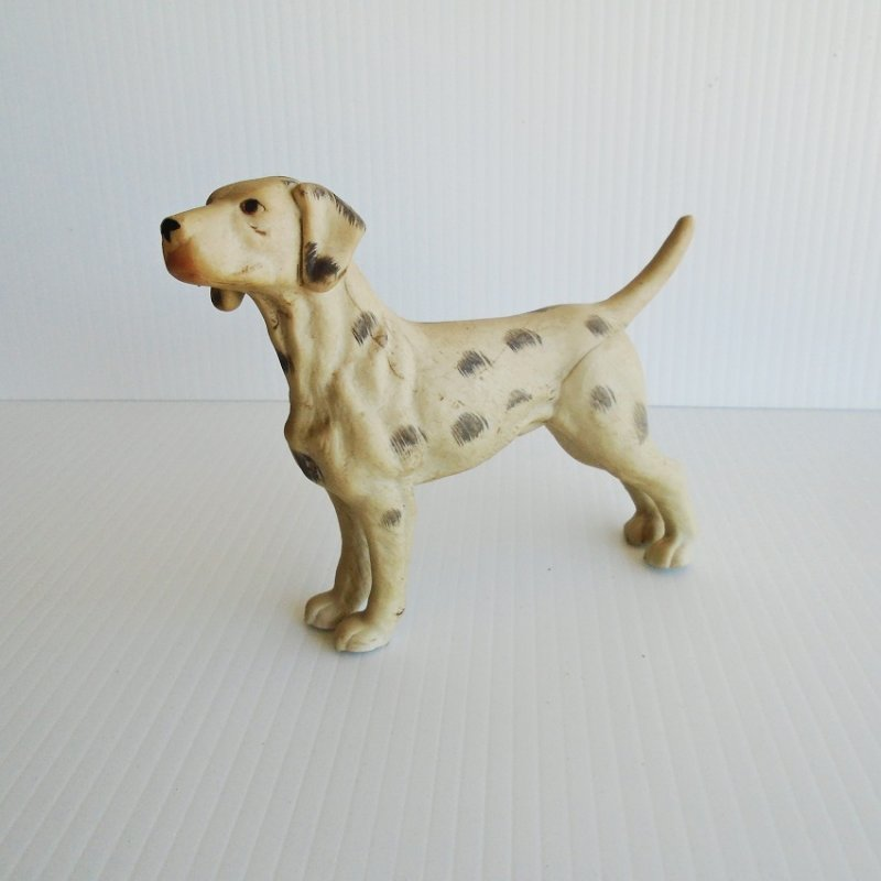 Vintage Dalmatian Dog. Possibly 1950s to 1960s. Hand painted. 5 by 5.5 inches. Unknown age. Estate purchase.