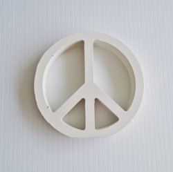 Wood Peace Sign, 4.75 inches round