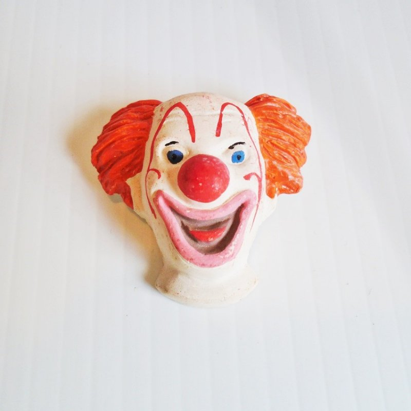 1940s Revelco Bozo The Clown pin brooch. 2 inch. Never worn.