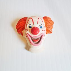 Bozo The Clown Vintage 1940s Revelco Pin Brooch