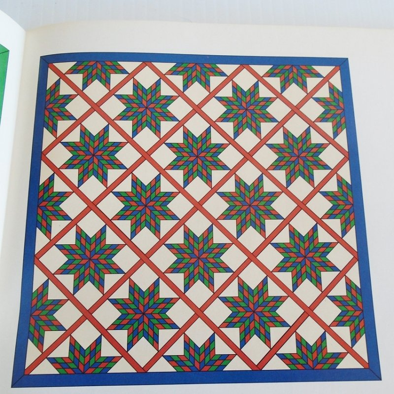 Quilting pattern and actual size template to make the quilt