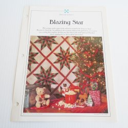 Blazing Star Quilt Pattern with Stencil Templates