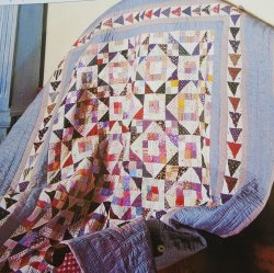Jacob's Ladder Quilt Pattern with Stencil Templates