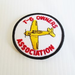 T-6 Owners Association Patches, Vintage WWII Airplane