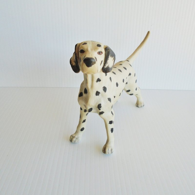 Vintage Dalmatian Dog. Possibly 1950s to 1960s. Hand painted porcelain. 7 by 5 inches. Unknown age. Estate purchase.