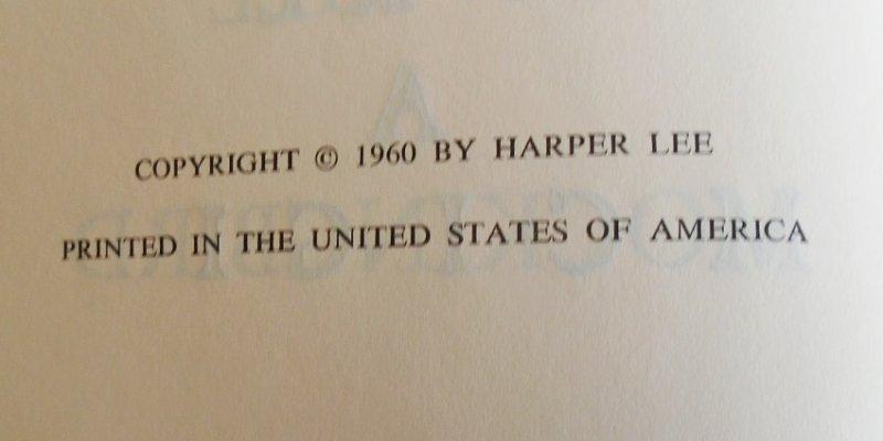 To Kill A Mockingbird by Harper Lee. 1960 Book Club Edition.