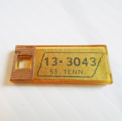 Mini 1953 Tennessee Keychain License Plate Disabled Veterans