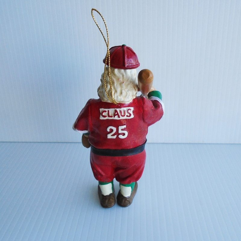 Kurt S. Adler vintage All Star Santa Baseball Christmas ornament. Six inches tall. Excellent condition. Estate find.