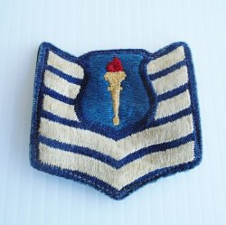 U.S. Air Force Jr. ROTC Cadet Tech Sergeant 5 Chevron Patch