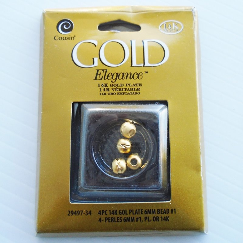 Connector Beads, 14k GP, Elegance by Cousin. 11 packs with 4 beads per pack. Total of 44 beads.