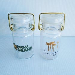 MGM and Mirage Las Vegas Casinos Flip Top Jars