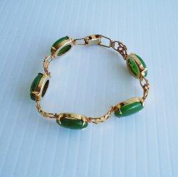 '.Chrysoprase Link Bracelet.'