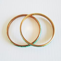 '.Malachite bangle bracelets set.'