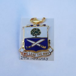 29th U.S. Army Infantry DUI Insignia Pin, We Lead The Way