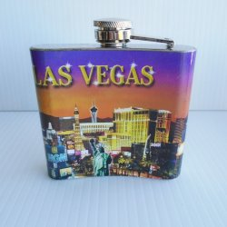 '.Las Vegas sign flask, New.'