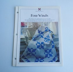 Four Winds Full Size and Crib Quilt Pattern with Templates