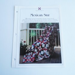 Mexican Star Full and King Size Quilt Pattern w Templates