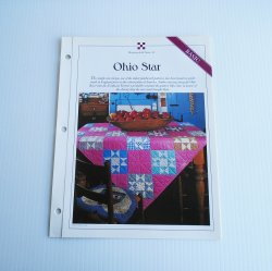 Ohio Star Quilt Pattern w Stenciled Templates