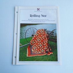 Rolling Star 106x127 inch Quilt Pattern with Templates