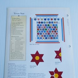 '.Texas Star Quilt Pattern.'