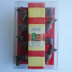 Dachshund Dog Corn Holders, Set of 4, New in Pkg