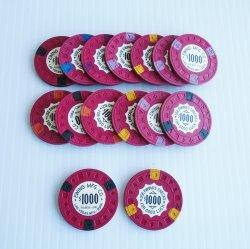 $1000 Poker Chips, Qty of 15, Ewing Mfg Co, Las Vegas NV